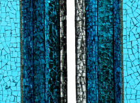 Quiddity of Light 2018 (Turquoise) diptych Bio-luminescence series (photo: Sonja van Driel)