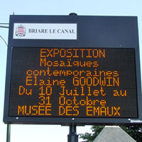 Advertising the Exhibition. Musée des Émaux, Briare, France