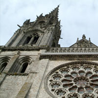 Rose Window - day. Gallery Chapelle St Eman, Chartres, France. FENETRES SUR LA PERCEPTION (solo)