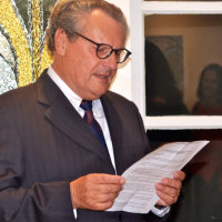 The Mayor of Couches, Emile Leconte, reads his welcoming speech (Photos Tony Stamp)