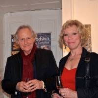 Elaine M Goodwin with artist Jean Claude Bligny and Sarah Parnacott (Photos Tony Stamp)