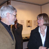 David Miller and Patricia Witts. Dorset County Museum, Private View