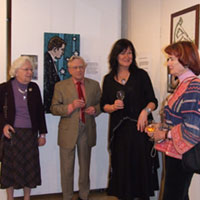 Pamela and David Johnson, EMG and Vanessa Somers Vreeland. Dorset County Museum, Private View