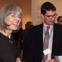 Camilla Hampshire (director RAMM)Thomas Cadbury (curator of the exhibition) (Photo Jules)