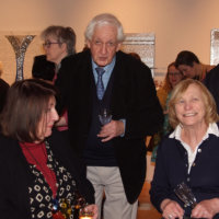 Artist Ann Roe Jones with Alan Jones and Trish (photo Jules)