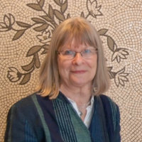 Dr Pat Witts (classical mosaic specialist) (photo Jules)