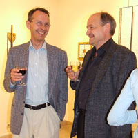 Henri Wies (Luxembourg) and Guillaume Wies (Switzerland). Lawrence-Arnott Gallery, Marrakech, Private View
