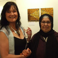 EMG and Zahra Jabiri with 'Sbah l-khir Zahra!'. Lawrence-Arnott Gallery, Marrakech, Private View