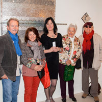 Elaine with artists Henri Noel Aubrey, Giovanni Galli, Edda Mally & Verdiano Marzi