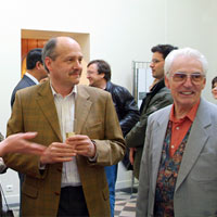 Georgie Webb, Lindy Ayubi, Henri Wies, Robert Field. Gallery of the Musée d'Emaux et de Mosaïque, Briare, France